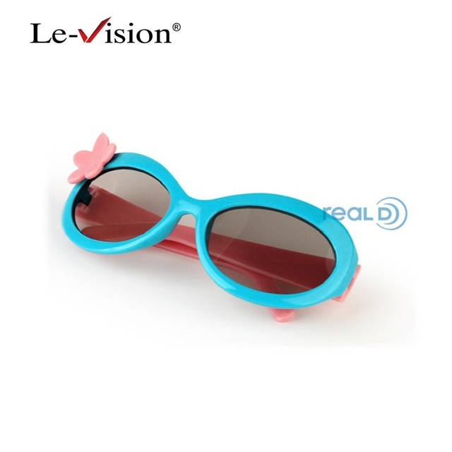 Free Shipping Le-Vision LSZ028 Kids IMAX 3D Glasses for Cinema/ TVs/ Home Theatre PC Framed 3D Vision Glass
