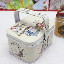 Новое поступление, винтажный маленький чемодан для хранения, жестяная коробка для конфет, коробка для наушников, маленький чемодан