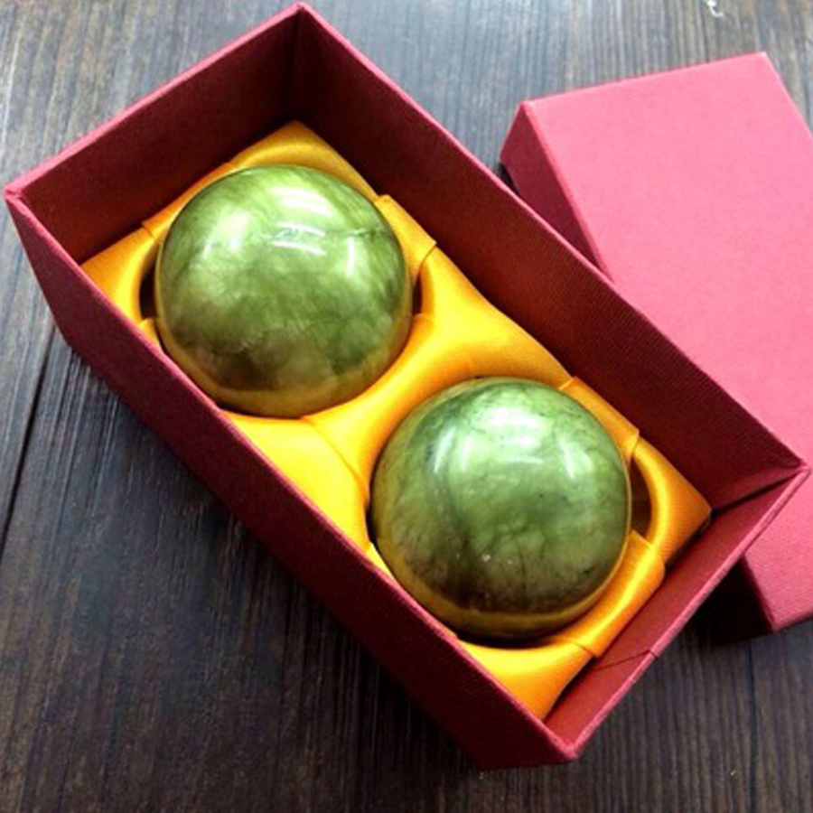 2 Pcs Natural Jade Ball Foot Care Tool Massager Training Hand - Skin Care Tool