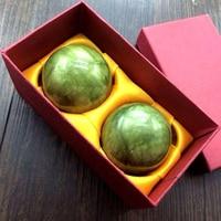 Hot 2 Pcs Natural Jade Ball Body Massager Training Hand Antistress Massage Ball Slimming Relaxation Health