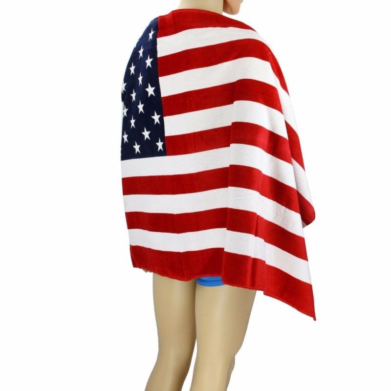 Canada American British Flag Design Bath Towel 140x70cm