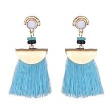 Bohemian Long Tassel Earrings For Women Pink Fringe Statement Tassle Hanging Party Jewelry Pendientes Mujer