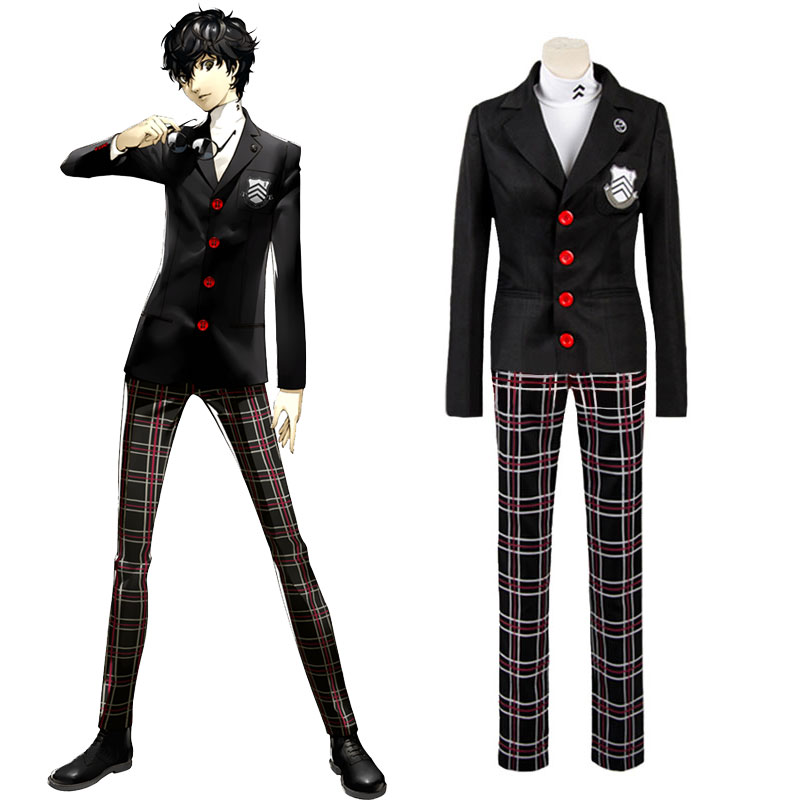 Game Persona 5 Halloween Cosplay Costume Protagonist Uniform Coat Shirt Pants