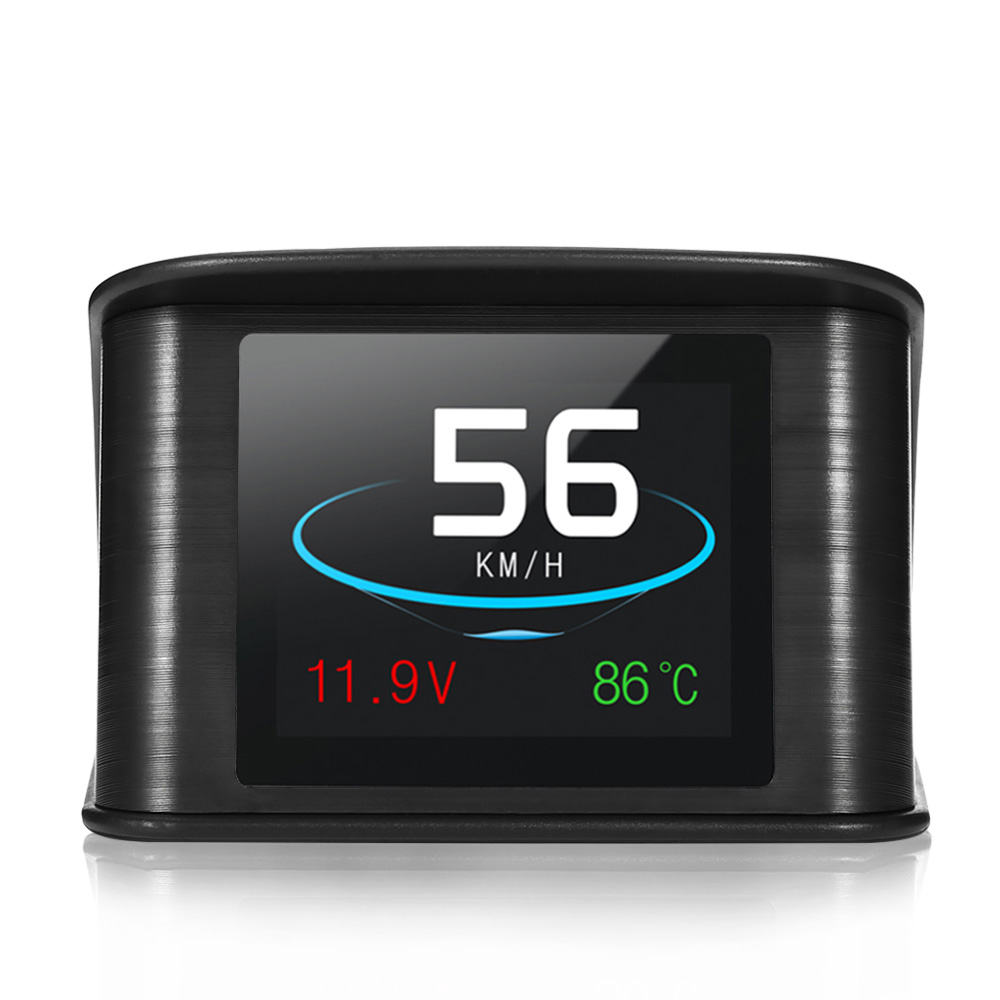 P10 HUD OBD gps компьютер автомобиля Скорость проектор Цифровой Скорость ometer Дисплей Smart метр RPM топлива Температура Head Up Дисплей
