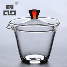 TANGPIN Термостойкое стекло gaiwan Чайник для пуэр gaiwan, чайная чашка чая