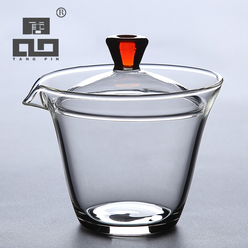 TANGPIN heat resistant glass gaiwan teapot for puer gaiwan tea cup of tea|Tea Tureen| |  - title=