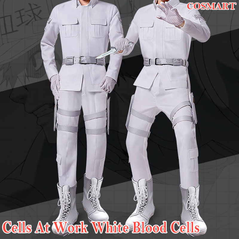 New 2018 Amine Cells At Work White Blood Cell Hataraku Saibou Cosplay Costume Leukocyte U-1146 Uniform For Halloween Freeship