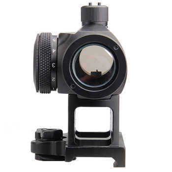 Mini 1X24 Rifescope Sight Illuminated Sniper Red Green Dot Sight With Quick Release Red Dot Scope Mount For Hunting Air 5-0039