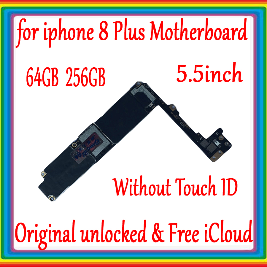 100% Original unlocked for <font><b>iphone</b></font> 8Plus <font><b>Motherboard</b></font> <font><b>With</b></font>/No <font><b>Touch</b></font> <font><b>ID</b></font>,Free iCloud Mainboard <font><b>with</b></font> IOS System,64GB / 256GB image