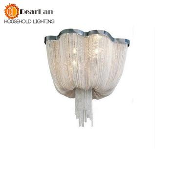 Современный привлекательный дизайнерский потолочный светильник из алюминия с цепочкой, потолочные светодиодные светильники для гостиной,...