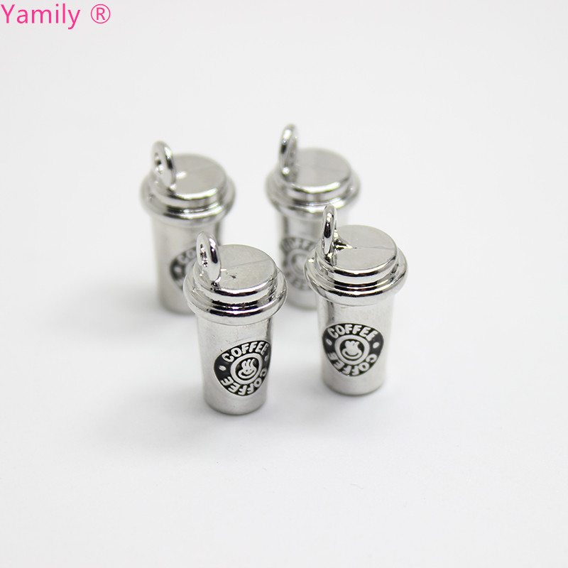 8pcs 10x16mm coffee cup charms 3D Coffee Cup Charm pendant for DIY Bracelet Necklace Diy Jewelry For Coffee Maker in Charms from Jewelry Accessories