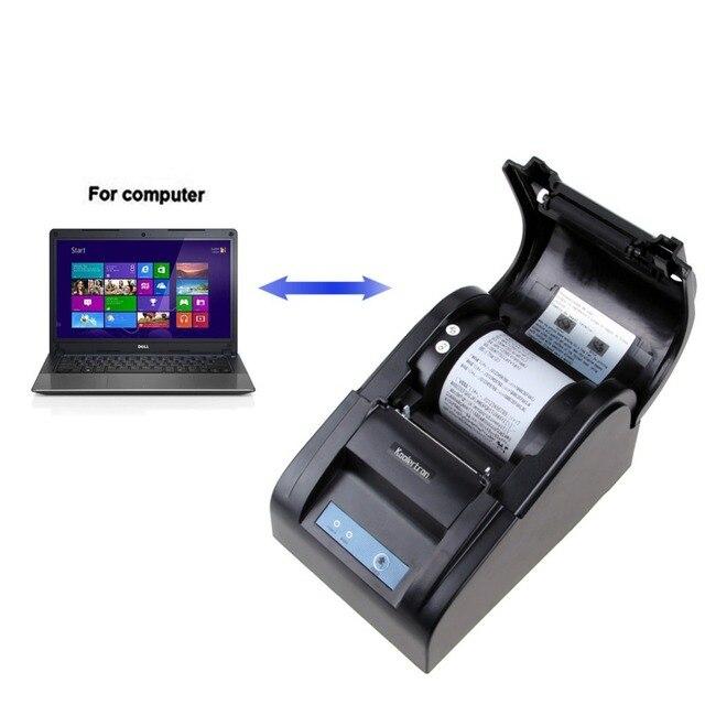Koolertron Тепловой Чековый Принтер С USB/SERIAL 54 мм POS 70-90 мм/сек Билеты Принтер для ресторан и Супермаркет