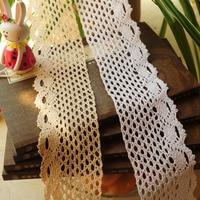 7cm DIY 100 Cotton Lace Ribbon Sewing Tape Beige Lace Webbing Beige Lace Trim Garment Accessories