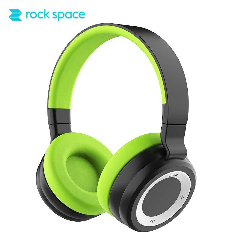 ROCKSPACE S7 Bluetooth Sans Fil Casque Stéréo HiFi Son PU Doux Casque Antibruit Pour iPhone Xiaomi Moblie Téléphone