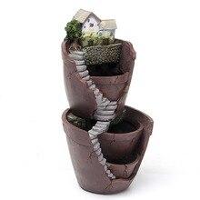 Tenozek Sky Garden Micro Landscape Flower Pot Planter Bonsai Succulents Plants Garden Pots