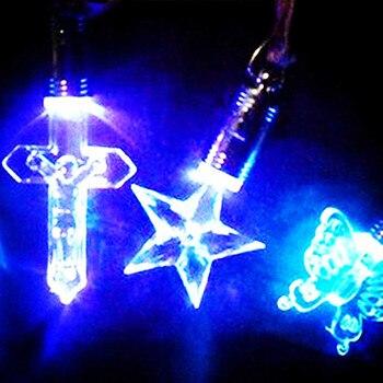 200pcs/lot LED Acrylic cartoon flash necklace shine pendant Luminous toys necklace Creative party toys