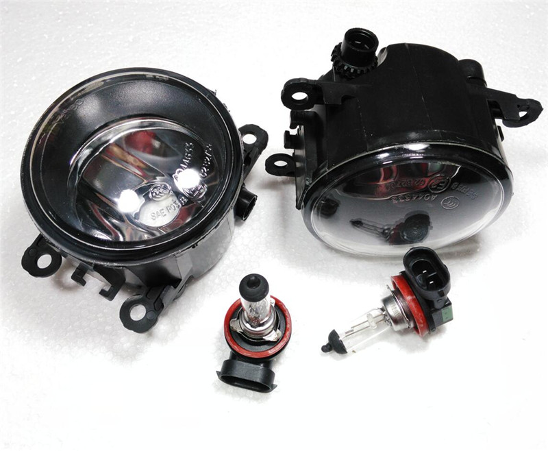 A Pair Front Bumper lights Front Fog Lights for <font><b>Peugeot</b></font> 207 <font><b>301</b></font> 307308 408 for Citroen C2 C4L C-quatre C-triomphe fog light 12V image