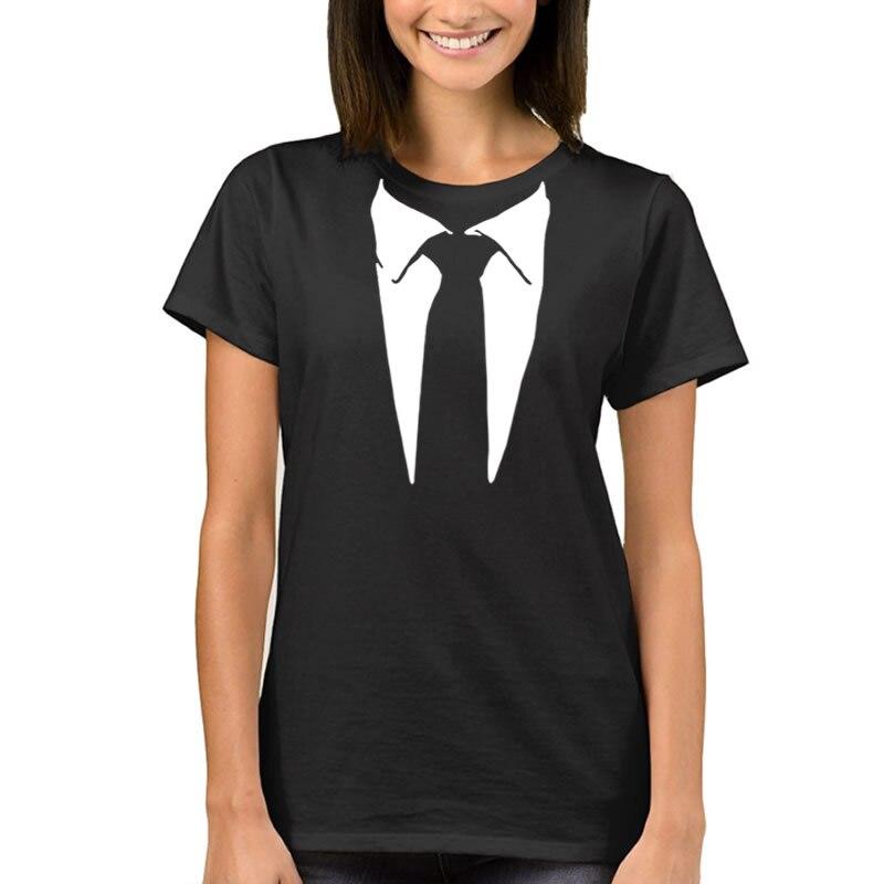 Female T-shirt 2017 Womens Summer T-Shirt Suit Tuxedo Funny Harajuku Product Clothes for Women Alien T Shirt Femme Tops