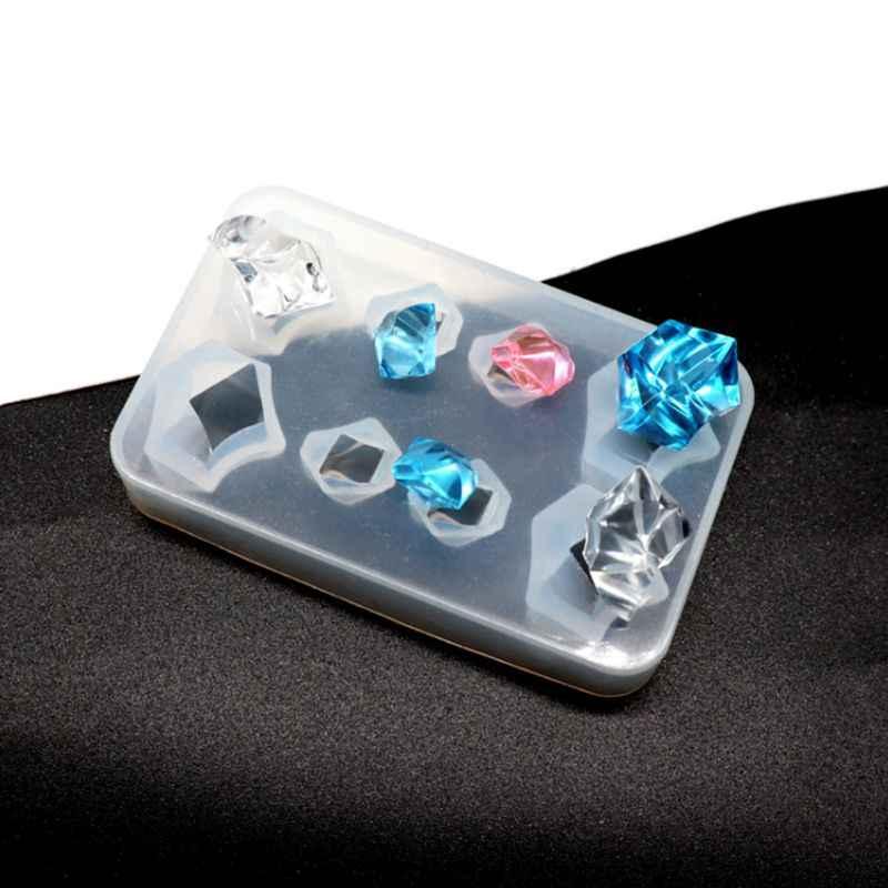 Силиконовые Формы Камни разного размера 3D геометрический эпоксидной смолы dly ювелирные изделия кулон Цепочки и ожерелья браслет украшение для помадной глазури хлебопекарные пресс-формы