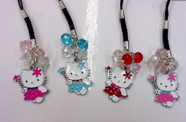 Wholesale Hello Kitty cellphone charm ,cellphone strap, cellphone accessory