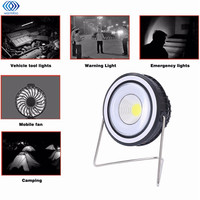 Portable Solar Power 3W USB Rechargeable COB Camping Light With Mini Rotation Fan 7H Using Time