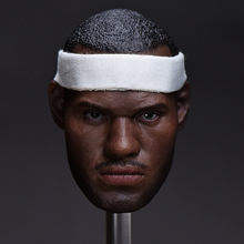 1/6 Famous Star Lebron James Head with Headgear for 12 Inches Female Bodies