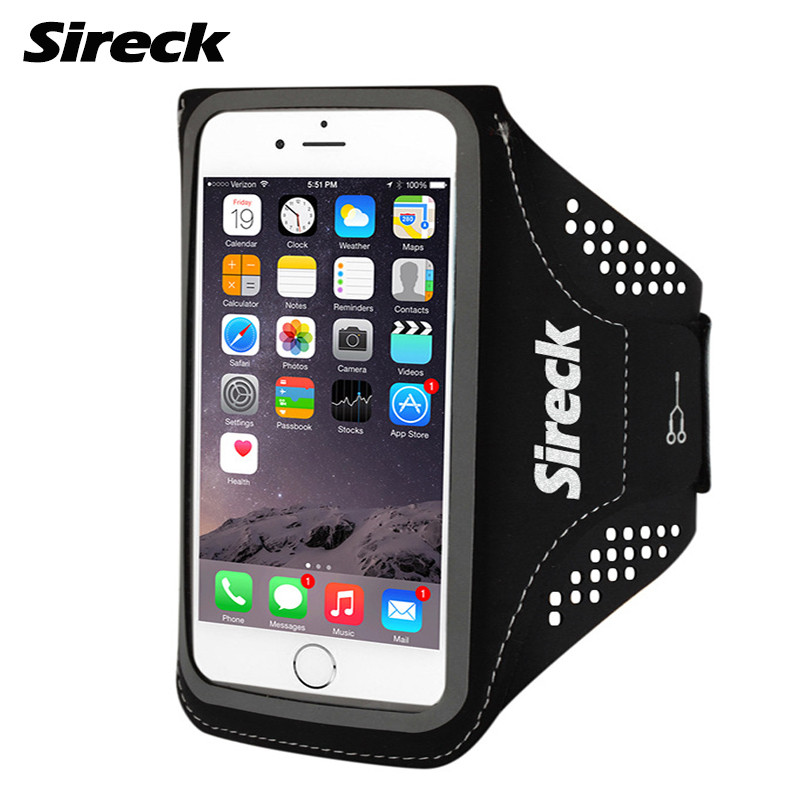 Sireck Running Bag Waterproof Sport Arm Bag 5.0'' 5.8'' Phone Case Fitness Gym Bag Jogging Arms Belt Pouch Running Accessories 12