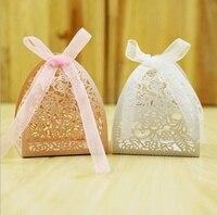 50 pz Disegno Del Merletto Del Fiore Taglio Laser Wedding Candy Box Regali di Nozze Per Gli Ospiti di Nozze Favori E Regali Decorazione Del Partito 40