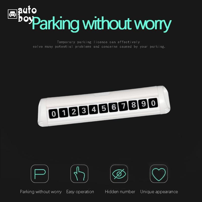 Image 2 - Парковочный номер пластина Автомобильная Временная парковочная карта автомобильные аксессуары для Polo для Skoda Octavia Тур панель для парковки для Mazda 6 GJ
