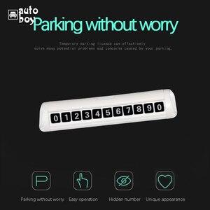 Image 2 - Acessórios Do Carro Número Da Placa Do Carro de estacionamento Cartão de Estacionamento Temporário Para Placa De Estacionamento Para Mazda 6 Polo Para Skoda Octavia Turnê GJ