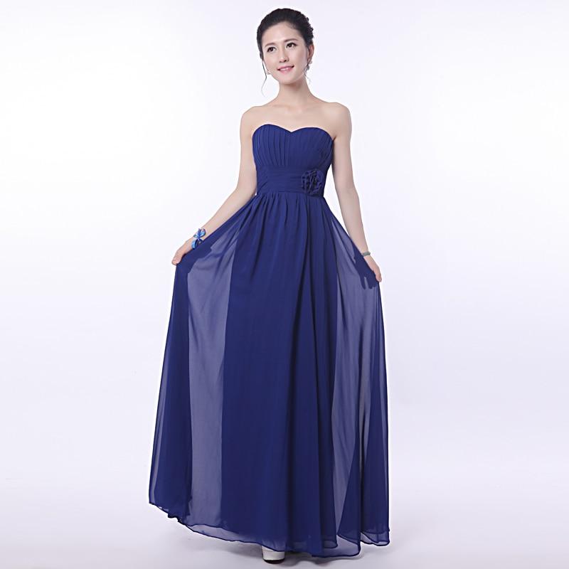 Atractivo Vestido De Dama De Gasa Azul Royal Ideas - Vestido de ...