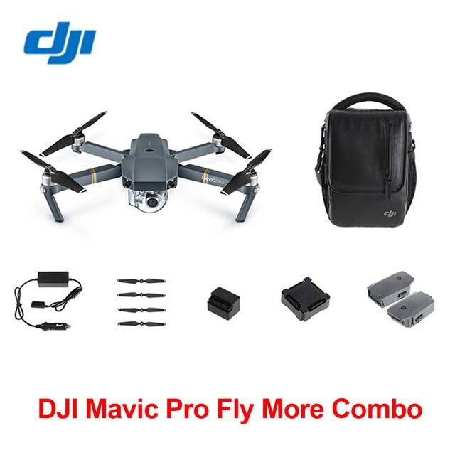 Оригинал Mavic Pro GPS Складной Drone DJI Летать Более Combo ж/Чехол и Два Дополнительных Батарей На Складе