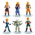 6 pcs Dragon Ball Z Action Figure 14 cm Super Saiyan Goku Gohan Goten PVC Modelo Figura Anime Japonês brinquedo