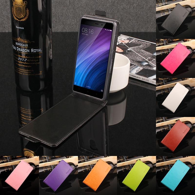 för Xiaomi Redmi 4 Luxury Flip Leather Cover Case för Xiaomi Redmi - Reservdelar och tillbehör för mobiltelefoner