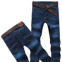 Free delivery Male straight lengthy trousers free males's denims male  plus dimension free skinny informal pant dimension 28-50 for weight 150kg