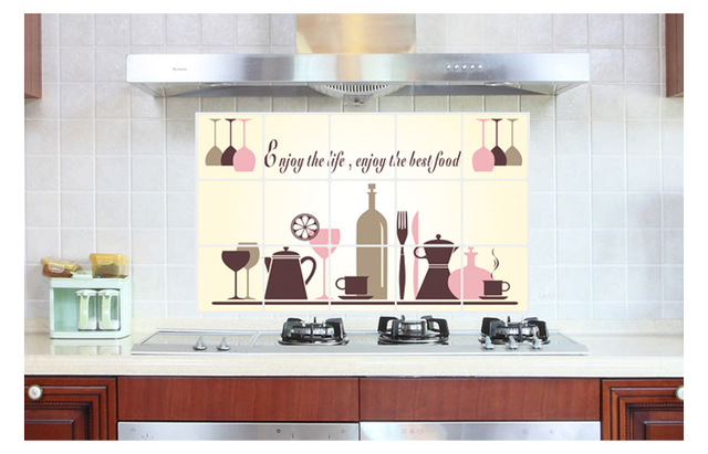 Anti olio Da Cucina Adesivi Murali per la Cucina Poster Da Parete ...