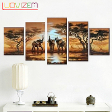 Diamond Embroidered Diy 5Pcs Mosaic Full Elephant 3D Cross Stitch Square Multiple Pictures.L113