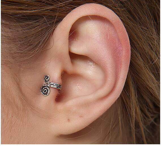 line Shop Top Quality Genuine 925 Sterling Silver Ears Cuff Clip