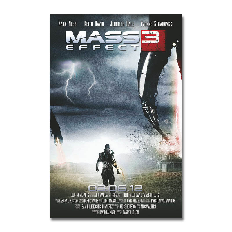 Art Silk Or Canvas Print Mass Effect Hot Game Poster 13x20 inch For Room Decor Decoration-008 image