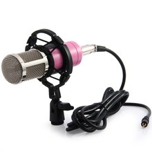 Professional Studio Microphone Condenser M - 800 Sound Recording Microphone with Shock Mount Sound Card Stand Holder for PC KTV