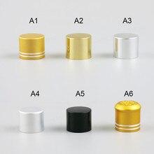 Tapón de botella de 100x18mm al por mayor, tapa de aluminio de 18mm, tapa de plástico para botella de aceite esencial de 5ml \ 10ml \ 15ml \ 20ml \ 30ml \ 50ml \ 100ml
