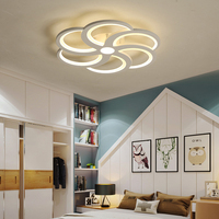 Современные светодиодные потолочные светильники лампы для гостиной спальня форма цветка потолочный светильник для детей спальня домашнег