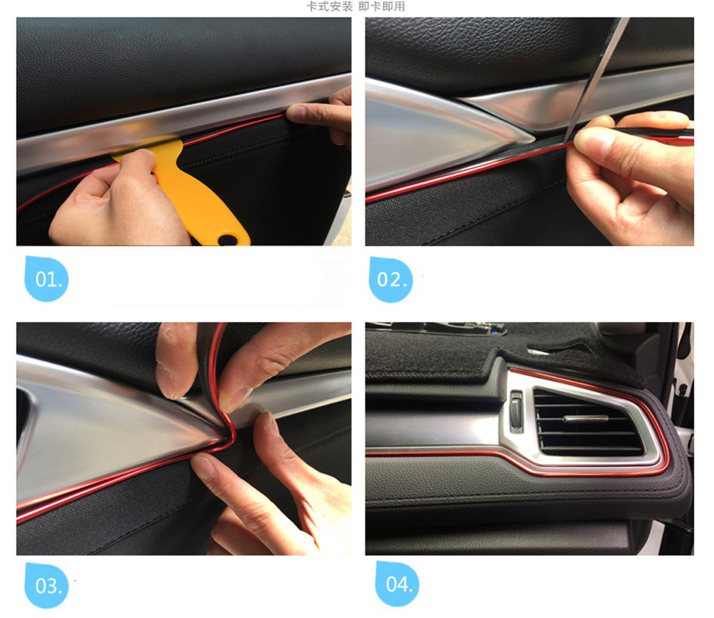 Image 5 - Car decoration strips 8M Car Interior Decor Wheel Edge Protector Ring Tire Strip Guard Rubber Sticker  Car Accessories styling-in Car Stickers from Automobiles & Motorcycles