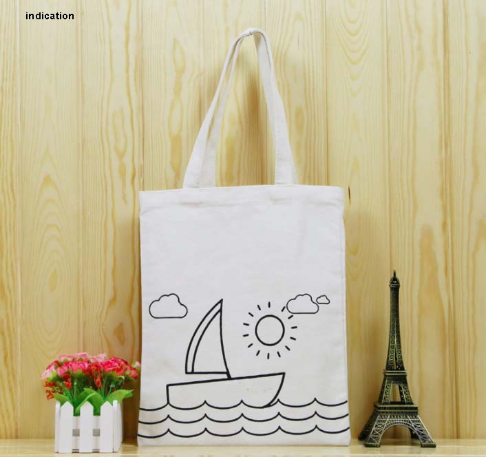 100 Pcs/Lot Customized With Your Logo Handbag Foldable Canvas Shopping Bag Material Composition Eco Bag Tote Bags