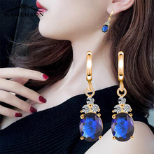 2019 Korean Style Womens Earrings With Stones And Crystals Fashion Jewelry Austrian Bright Zircon Long Earrings Accessories