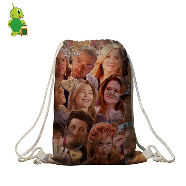 Famous Tv Show Greys Anatomy Overlay Backpack Women Men Casual