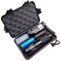 Strong Lumens Portable Flash Light T6 Kit Lens Led Flashlight Zoom Focus Handy Lamp With Black