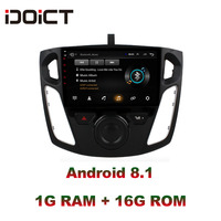 IDOICT Android 8.1 Car DVD Player GPS Navigation Multimedia For Ford Focus Radio 2012 2017 car stereo bluetooth