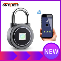 Onetree Waterproof Keyless portable Bluetooth smart Fingerprint Lock padlock Anti Theft iOS Android APP control door padlock