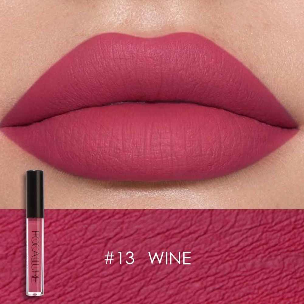 Focallure מט גלוס גוון שפתיים צבע צבעים לאורך זמן עמיד למים נוזלי לחות שפתון יופי איפור